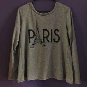 Sparkly Paris Long Sleeved Shirt With Rhinestones